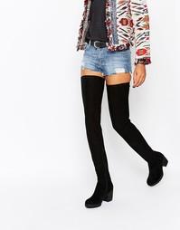 Черные ботфорты на каблуке Glamorous - Черный