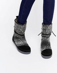 Черно-белые туфли TOMS - Черный