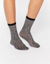 Сетчатые носки с узором Jonathan Aston - Серый