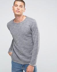 Меланжевый свитшот Selected Homme - Серый