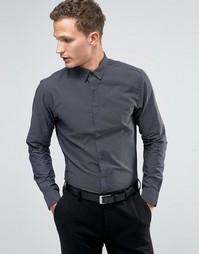 Строгая рубашка слим с длинными рукавами Jack & Jones Premium - Темно-синий