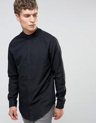 Рубашка с воротом на пуговице Selected Homme - Черный