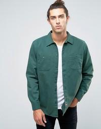 Рабочая рубашка классического кроя Brixton Blake - Зеленый