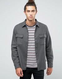 Фланелевая рубашка классического кроя Brixton Donez - Серый