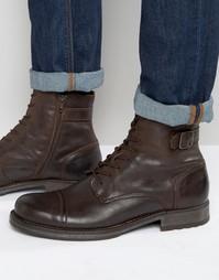 Кожаные ботинки Jack & Jones Siti - Коричневый