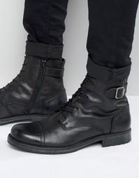 Кожаные ботинки Jack & Jones Siti - Черный