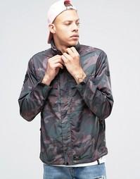 Куртка с камуфляжным принтом HUF - Зеленый