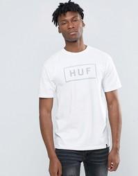 Футболка со светоотражающим логотипом HUF - Белый
