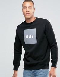 Свитшот с принтом логотипа HUF - Черный