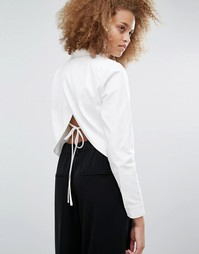Рубашка с открытой спиной J.O.A - Белый