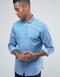 Рубашка из ткани шамбре Jack & Jones Premium - Синий