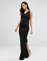Платье макси с разрезом спереди Jessica Wright - Черный