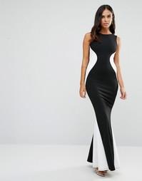 Платье макси в стиле колор блок Jessica Wright - Черный