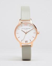 Часы с серым кожаным ремешком Olivia Burton OB16MDW05 - Серый