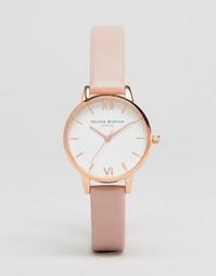 Часы с розовым кожаным ремешком Olivia Burton OB16MDW03 - Розовый