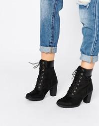 Черные ботинки на каблуке Timberland Glancy - Черный