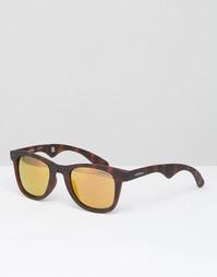 Коричневые квадратные солнцезащитные очки Carrera - Коричневый