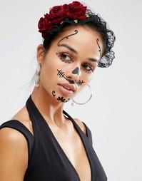 Татуировка для лица Johnny Loves Rosie Halloween - Мульти