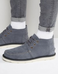 Нубуковые ботинки чукка Toms - Серый