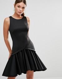 Платье с оборкой по краю Coast Crysta - Черный