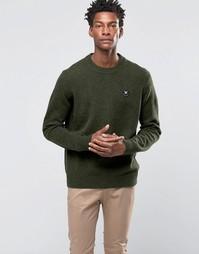 Джемпер с круглым вырезом и логотипом Wood Wood Yale - Зеленый