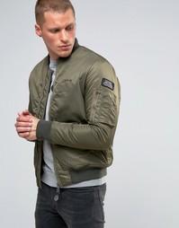 Нейлоновая куртка-пилот Schott Airforce1 - Зеленый