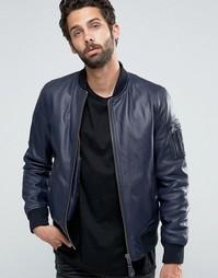 Кожаная куртка-пилот Schott - Темно-синий