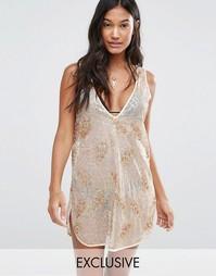 Пляжное платье с пайетками Wolf & Whistle - Золотой