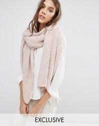 Длинный вязаный шарф Stitch & Pieces - Розовый
