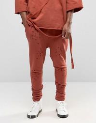 Состаренные джоггеры с заниженным шаговым швом Granted - Оранжевый