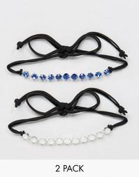 2 ожерелья-чокер с кристаллами Swarovski от Krystal - Черный