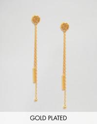 Серьги с двойными цепочками Ottoman Hands - Золотой