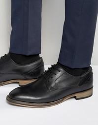 Черные кожаные оксфордские туфли Frank Wright Merton - Черный