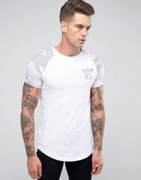 Рубашка с камуфляжными рукавами реглан 11 Degrees - Белый