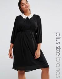Платье с украшением на воротнике Lovedrobe - Черный