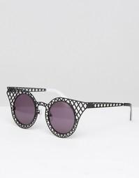 Черные солнцезащитные очки кошачий глаз House of Holland Cagefighter - Черный