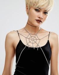 Ожерелье в восточном стиле Regal Rose Halloween The Lair - Серебряный