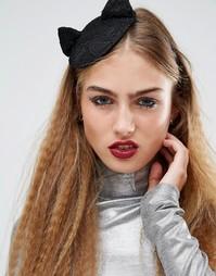 Ободок со шляпкой и кошачьими ушками Orelia Halloween - Черный