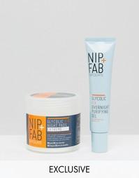Набор ночных средств с гликолевой кислотой Nip & Fab эксклюзивно для ASOS - СКИДКА 36 - Бесцветный Nip+Fab