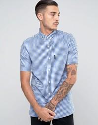 Клетчатая рубашка с короткими рукавами Lambretta - Синий