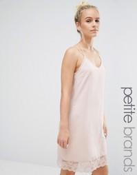 Платье с кружевной отделкой Vero Moda Petite - Розовый