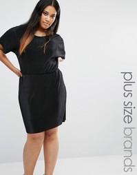 Плиссированное платье Boohoo Plus - Черный