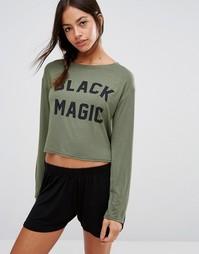 Комплект с лонгсливом и шортами Adolescent Clothing Halloween Black Magic - Зеленый