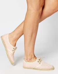 Эспадрильи на шнуровке Soludos Derby - Розовый