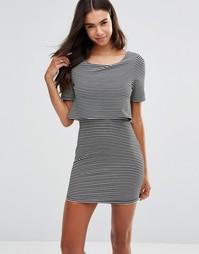 Платье в полоску с верхним слоем Unique 21 - Черный