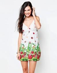 Сарафан с цветочным принтом Jasmine - Белый