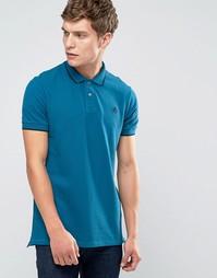 Синяя футболка-поло узкого кроя с логотипом Paul Smith - Синий