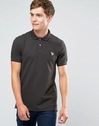 Коричневая футболка-поло узкого кроя с логотипом Paul Smith - Коричневый
