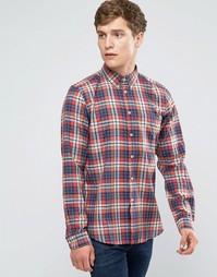 Красно-синяя рубашка слим в клетку Paul Smith - Красный