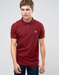 Красная футболка‑поло слим с длинными рукавами и логотипом Paul Smith - Красный